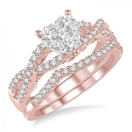 HEART LOVEBRIGHT DIAMOND WEDDING SET