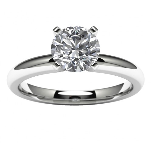 14k White Gold Engagement Ring Mounting Top View