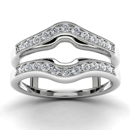 14k White Gold Ring Enhancer Top View