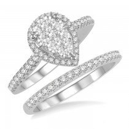 Pear Shape Shine Bright Diamond Wedding Set