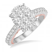 OVAL SHAPE LOVEBRIGHT DIAMOND RING