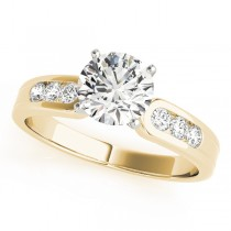 14k Yellow Gold Channel Set Diamond Engagement Ring