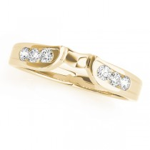14k Yellow Gold Channel Set Diamond Wedding Band Top View