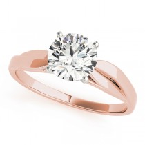 14k Rose Gold Solitaire Engagement Ring
