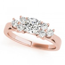 14k Rose Gold Diamond Cluster Engagement Ring