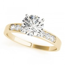 14k Yellow Gold Diamond Channel Set Engagement Ring