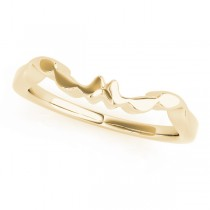 14k Yellow Gold Wedding Band Top View