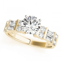 14k Yellow Gold Diamond Fancy Baguette Engagement Ring