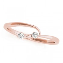 14k Rose Gold Twisted Wedding Band Top View