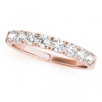 14k Rose Gold Wedding Band Top View