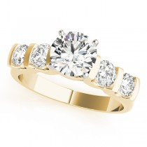 14k Yellow Gold Single Row Prong Engagement Ring