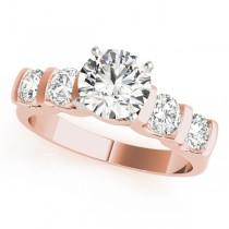 14k Rose Gold Single Row Prong Engagement Ring