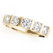 14k Yellow Gold Single Row Prong Wedding Band