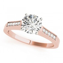 14k Rose Gold Channel Set Engagement Ring