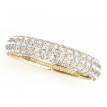 14k Yellow Gold Pave Wedding Band