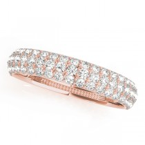 14k Rose Gold Pave Wedding Band