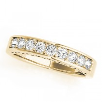14k Yellow Gold Channel Set Wedding Band