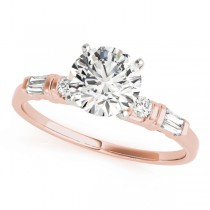 14k Rose Gold Engagement Ring Top View