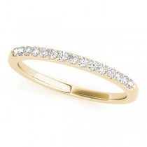14k Yellow Gold Side Stone Wedding Band Top View