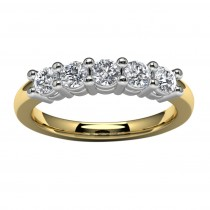 14k Yellow Gold Side Stone Wedding Band