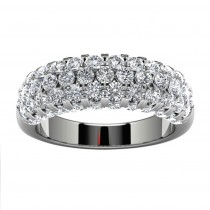 18k White Gold Wedding Band Top View