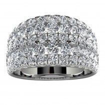 18k White Gold Side Stone Wedding Band
