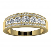 14k Yellow Gold Diamond Wedding Band