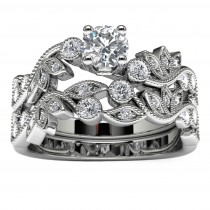 14k White Gold Diamond Engagement Set