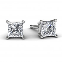 White Gold Princess Diamond Earrings