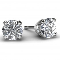 White Gold 1/2 TDW Diamond Solitaire Earrings