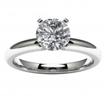 14k White Gold Engagement Ring Mounting