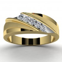 10k Yellow Gold Diamond Wedding Ring Top View