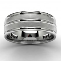 10k White Gold Wedding Band Top View