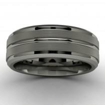Tantalum Wedding Band Top View