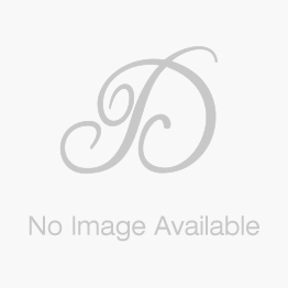 Front View Blue Topaz and Diamond Pendant with Chain in White Gold