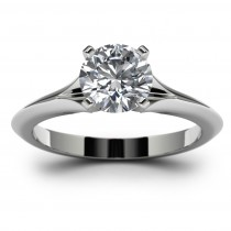 14k White Gold Engagement Mounting Top View