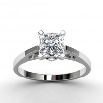14k White Gold Princess Diamond Engagement Ring