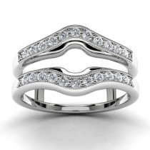 14k White Gold Ring Enhancer