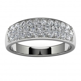 10k White Gold Wedding Ring