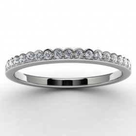 14k White Gold Diamond Wedding Ring