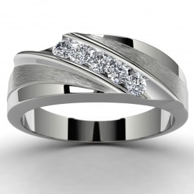 10k White Gold Diamond Wedding Ring