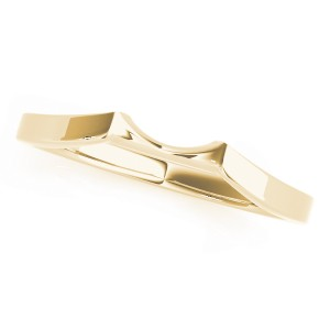 14k Yellow Gold Curved Wedding Band