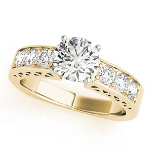 14k Yellow Gold Channel Set Engagement Ring