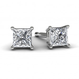 White Gold Princess Diamond Earrings