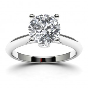 14k White Gold Solitaire Mounting Top View